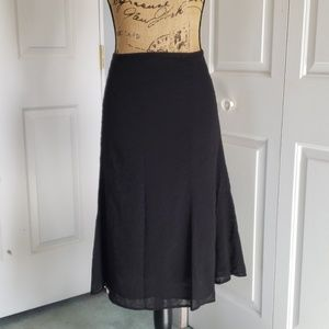 Black eyelet skirt Size 18